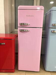 five5cents retro k hl gefrierkombination pink k hlschrank neu ebay. Black Bedroom Furniture Sets. Home Design Ideas