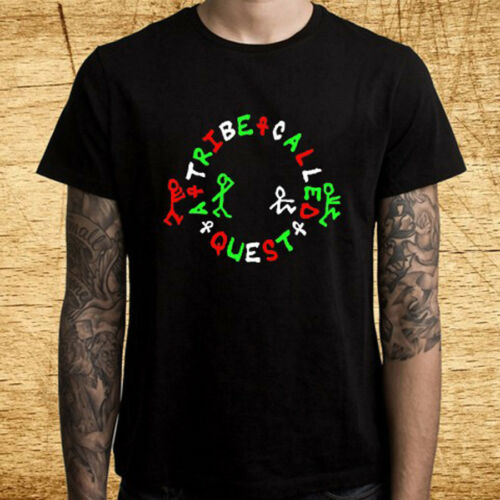 New A Tribe Called Quest Logo Men/'s Black T-Shirt Size S-3XL