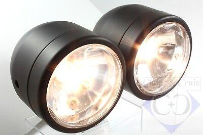 Doppelscheinwerfer - Motorrad - Hauptscheinwerfer - Schwarz Fabriken Und Minen