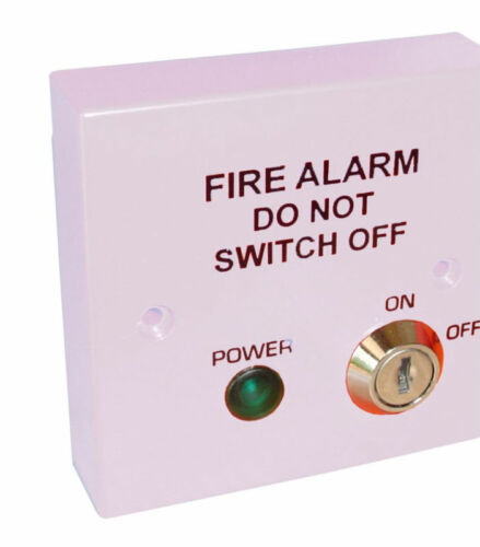 Fire Alarm Spur 230v Mains Isolator Key Switch Fused to BS5839 Red