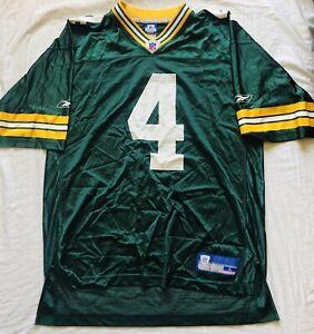 Brett-Favre-Green-Bay-Packers-NFL-Jersey-4-Reebok-Authentic-Size-L