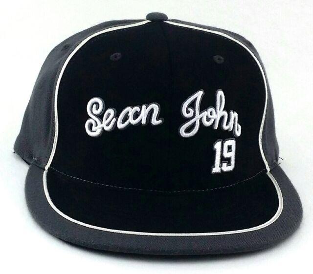 Sean Jean Signature New Collection Flex fit Fitted Gray Black Era Hat Cap  M L 9a7a2e94a95