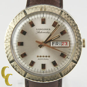 Longines-Admiral-10k-Gold-Filled-Automatic-Day-Date-Watch-w-Leather-Band-508