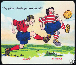 1-x-GLEBE-ST-GEORGE-1921-1929-CARTOON-RUGBY-LEAGUE-MOUSE-MAT-SMALL-PLACE-MAT