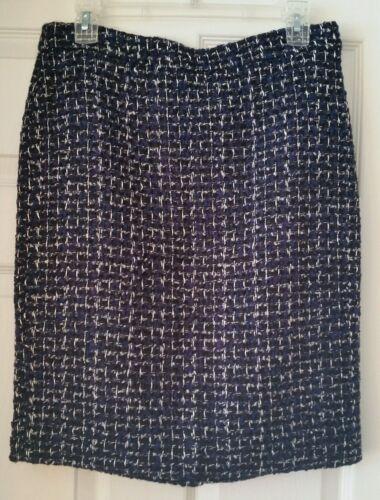 lavorazione tweed Taglia in Sold con E0640 tubino Out Gonna fabbrica J 6 Navy a Multi qtwpZnX