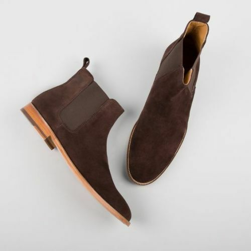 Suede Leather Boots Mens Casual Handmade Jodhpurs Ankle Suede Leather Boots