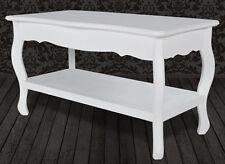Vintage White Coffee Table Living Room Furniture Wooden French Style - White french style coffee table