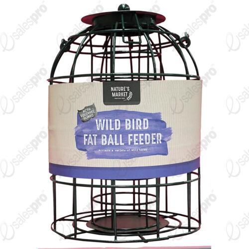 Écureuil Garde oiseau en cage boule de graisse Vert H27cm DE NATURES MARKET