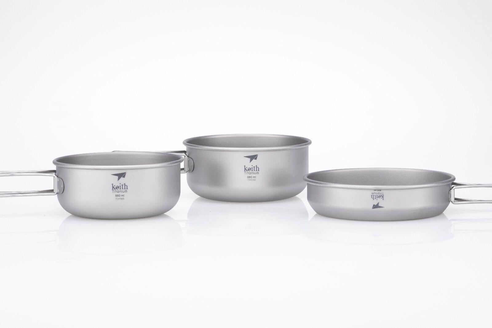 Keith Titanium Ti6053 3-Piece Bowls and Pan Pan Pan Set (Shipped from USA) d266f7