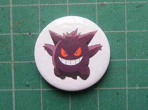 Gengar-White-Pokemon-Badge-25-58mm-Pin-Badge-Pokemon-Go-Cute-Nerd-Geek-Gift
