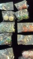 Wholesale Resale Lot Of Jewelry 10 Medium Earrings Sets Ships Today Lot 2
