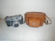 Vintage Graflex Graphic 35mm Camera 50mm Fraflar Prontor SVS Lens w Leather Case