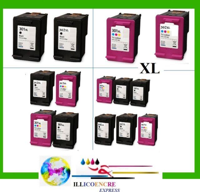 Cartuchos de Tinta Compatibles XL hp 301 hp 302 Deskjet 3630 3632 3639 Officejet