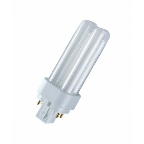 10x Osram Dulux D//E 18W 840 G24q-2 Lumilux Cool White 4P Kompaktleuchtstofflampe