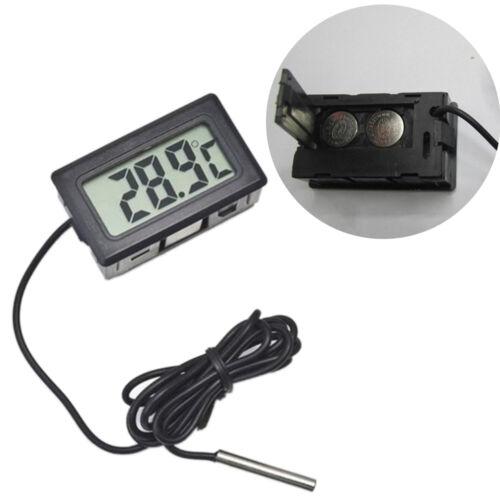Digitales elektronisches Thermometer Embedded Temperatur Meter Sonde Wasser /_G