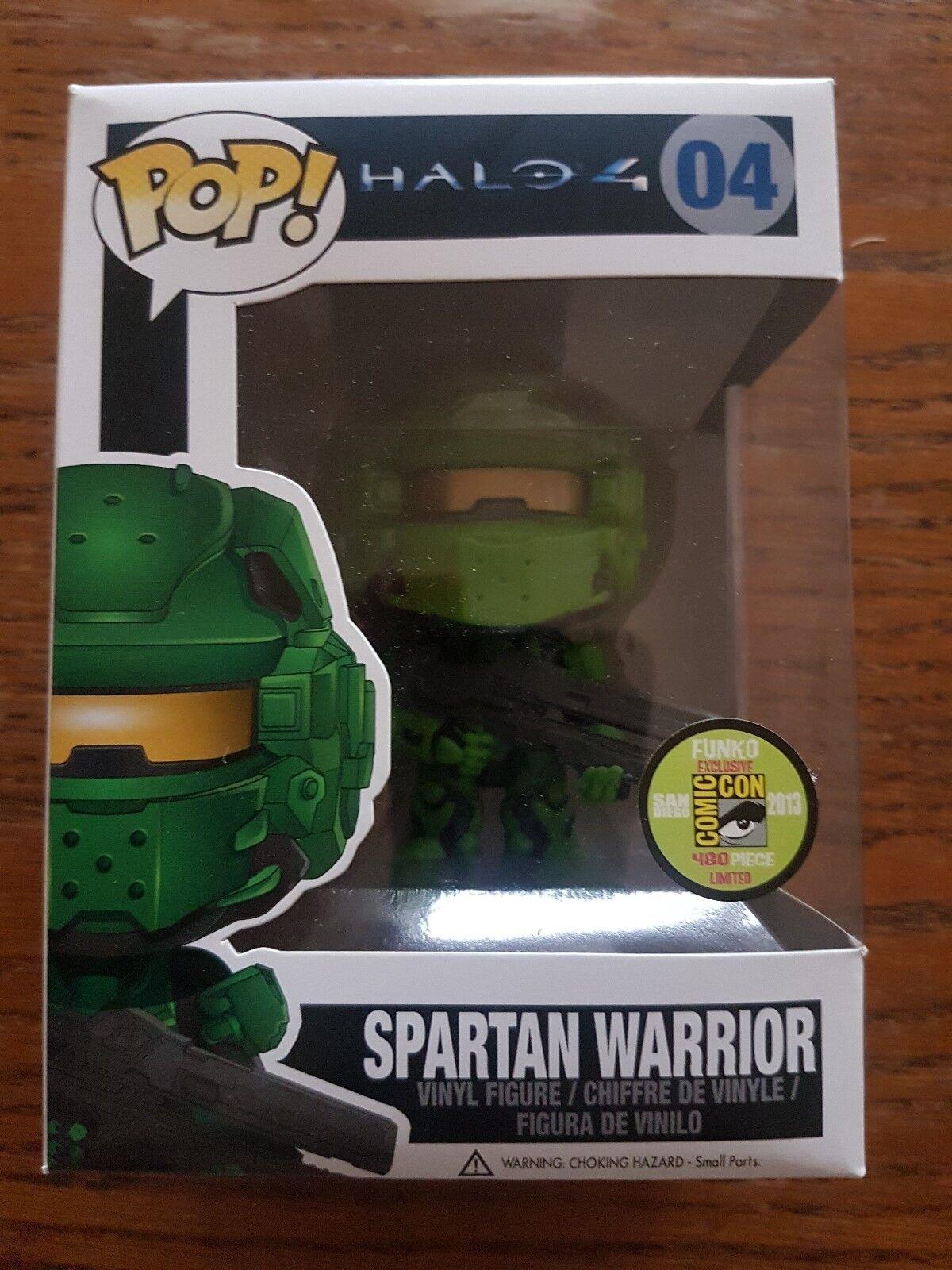 Halo 4 Funko POP 2013 SDCC Exclusive Spartan Warrior Grün  04