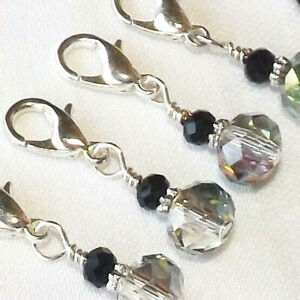 best quality for arrives sophisticated technologies CROCHET / KNITTING HANDMADE BEADED STITCH MARKERS. SWAROVSKI ...