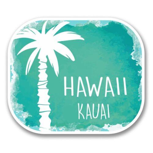 2 x kauai hawaii usa drapeau vinyle autocollant pour ordinateur portable voyage bagage voiture #6312