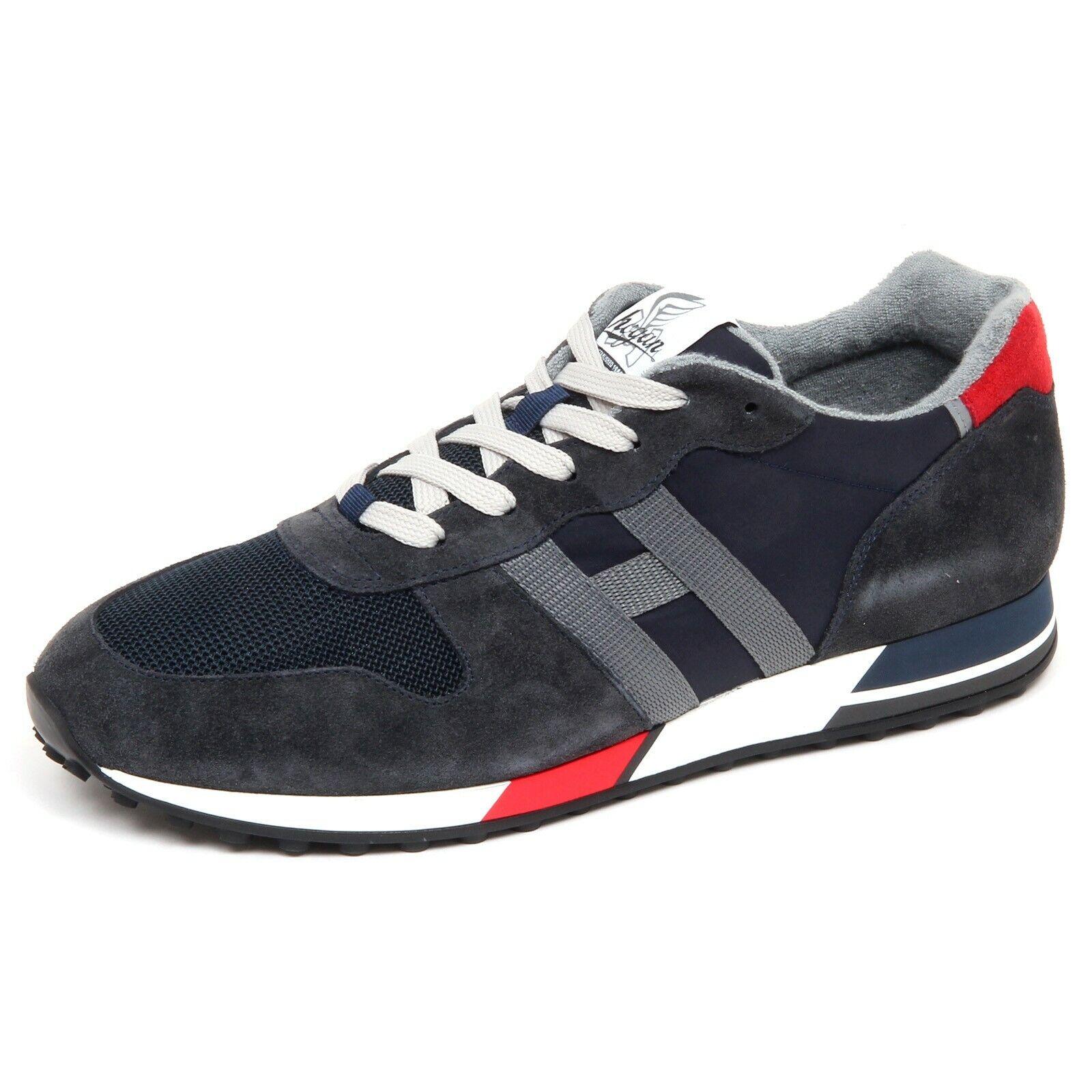F5586 zapatilla de deporte hombres azul gris HOGAN H383 zapatos H86RUN Zapato hombre