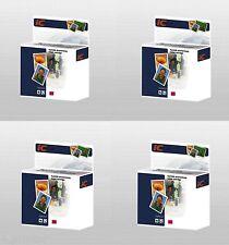 4 Magenta Ink Cartridges for  CLI-521 Canon Pixma MP550 MP560 MP620 MP630