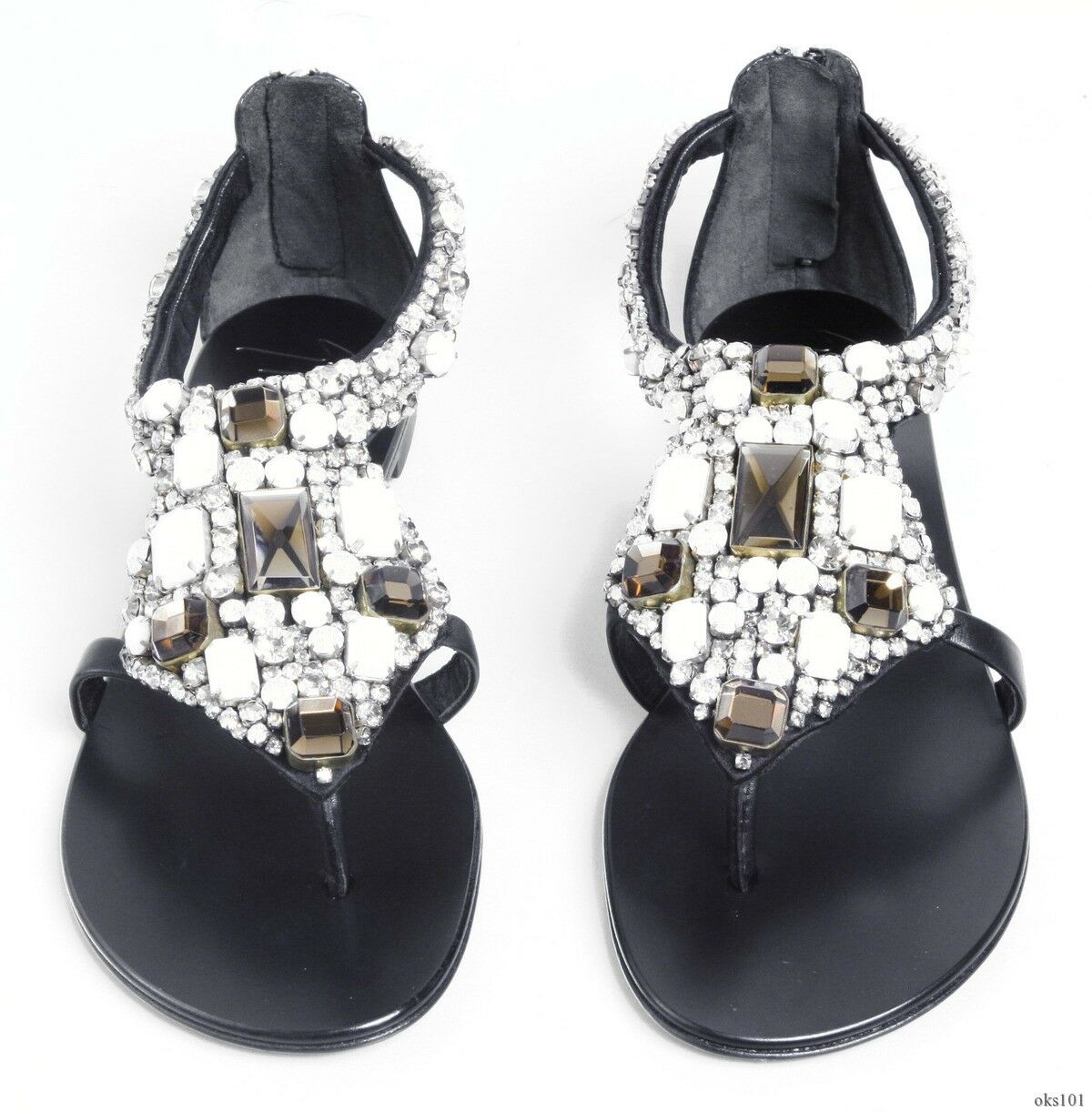 new shoes $1500 Giuseppe ZANOTTI all JEWELED rhinestones flats shoes new 36 US 6 - AMAZING d2d9e5