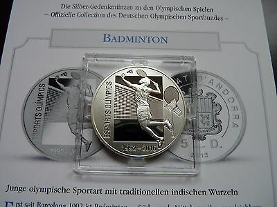 Andorra 2013  5 Diners Olympia 2016 Badminton Esports Olympics Silber PP Proof