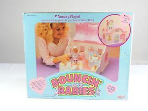 Nursery-Playset-doll-house-BOUNCIN-039-BABIES-1988-Galoob-baby-doll-MIB-bouncing