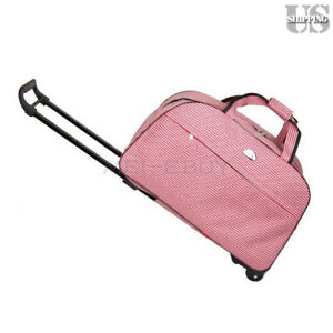 Image Is Loading 24 034 Large Rolling Wheeled Duffle Bag Briefcase