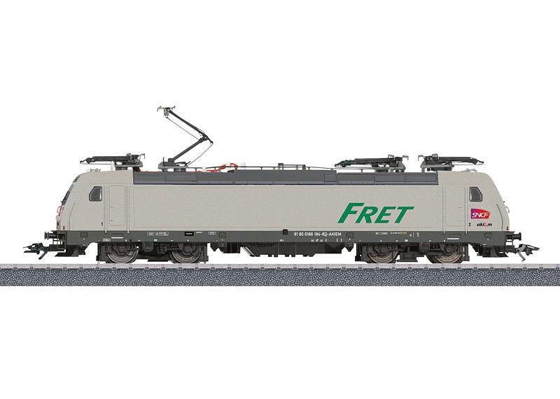 Märklin 36625 E-Lok Br e 186 Fret SNCF Mfx Suound Metallo # Nuovo Scatola