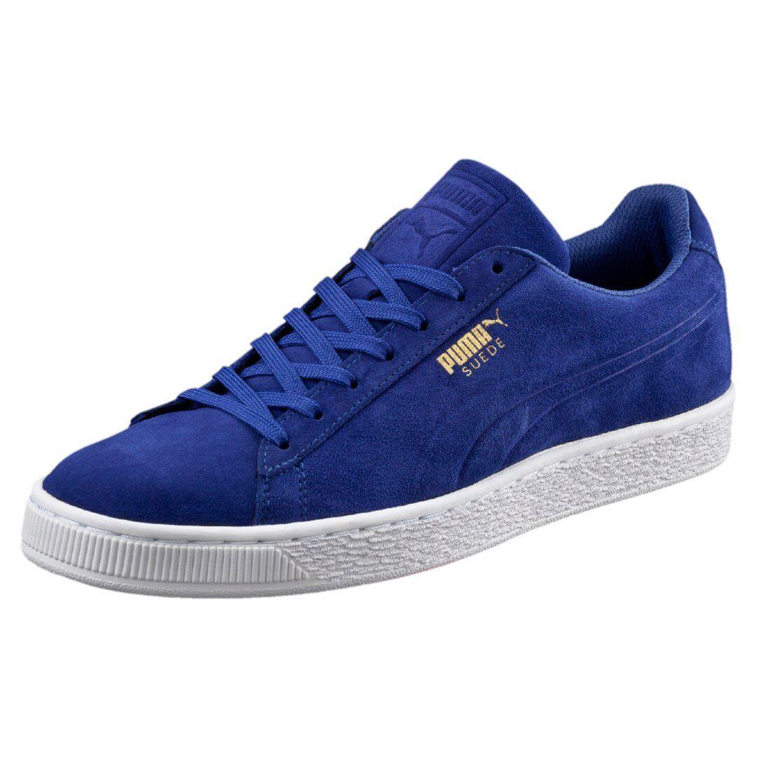 0740b6c78 Puma Suede Classic Debossed Mazarine bluee Men s 90s Low White 361097-01  nugsmn2874-Athletic Shoes