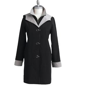 Laura Scott Women s Winter fall light trench hood rainCoat jacket ... d5ea4935b