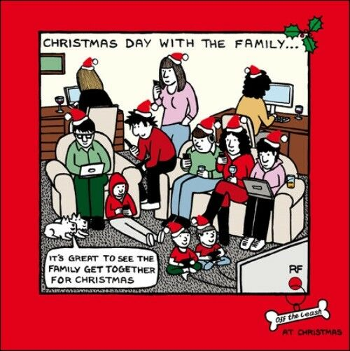 Christmas Leftovers Funny Off The Leash Cartoon Dog Humour Christmas Card