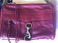 Rebecca Minkoff Mac Full Size Burgundy Red Old School NEW
