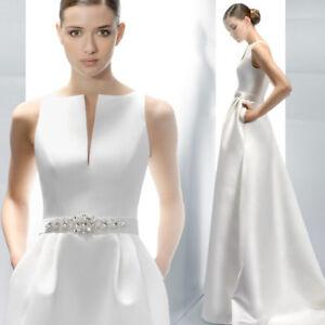 Hochzeitskleid-Brautkleid-schlicht-Kleid-Braut-mit-od-ohne-Schleppe-ivory-BC533