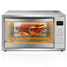 Toaster Oven Convection Roast Chicken Pizza Bakeware Pan Set Stainless Steel 42L