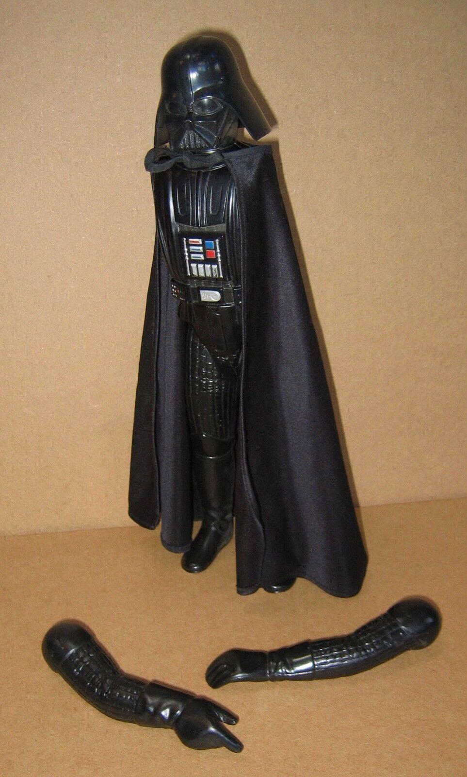 "1978 Vintage 12"" Darth Vader EX  COND but detatched arms, missing luciaber  promozioni eccitanti"