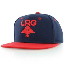 """LRG """"Research Group"""" Snapback Cap (Navy/Red) One Size Fits Most, Adjustable Hat"""