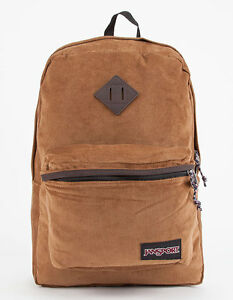 Jansport Fine Wale Corduroy Tan Brown Superbreak FX Backpack Cord ...