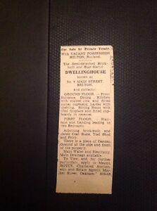 Ephemera-1967-House-Sale-No-4-Main-Street-Belton-Rutland-M483
