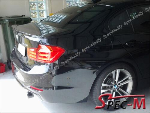 BMW F30 328i 335i 4Dr Performance Trunk Lip Spoiler w// Painted 668 Jet Black