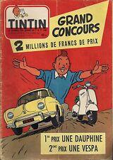 JOURNAL DE TINTIN N°472 - 7 NOVEMBRE 1957 COUVERTURE HERGE, GRAND CONCOURS