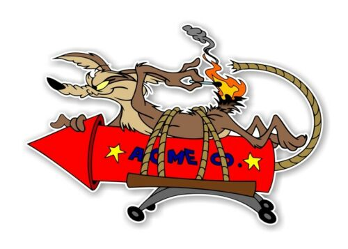 Wile E Coyote ACME Rocket  Decal Sticker Die cut