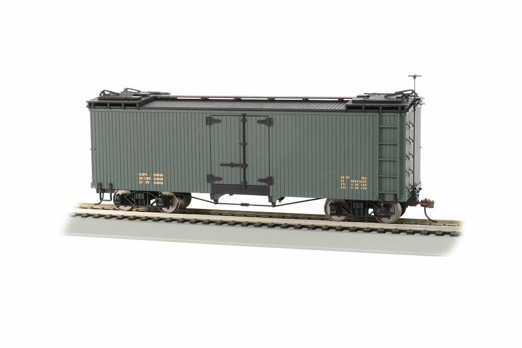 Spur On30 - Holz Reefer in Grün - 27498 NEU