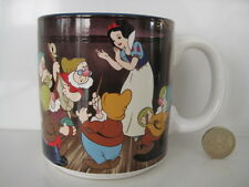 RARE VINTAGE DISNEY TEA COFFEE DRINKING MUG SNOW WHITE AND SEVEN DWARFS JAPAN