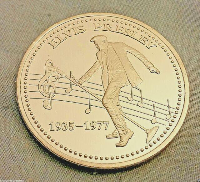ELVIS PRESLEY Silver Coin King of Rock & Roll Signed 1935 1977 Legend Las Vegas