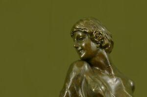 1940 Art Deco/Nouveau Woman Female Lady Bronze Sculpture Home Decoration Deal