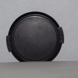 Used-52mm-Front-Lens-Cap-Snap-on-type-Black-generic-for-35-70mm-B11605