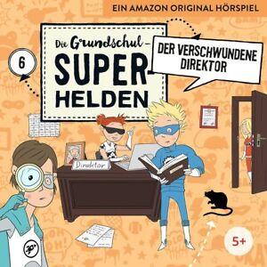 DIE-GRUNDSCHUL-SUPERHELDEN-06-DER-VERSCHWUNDENE-DIREKTOR-LAMP-UND-LEUTE-CD-NEU