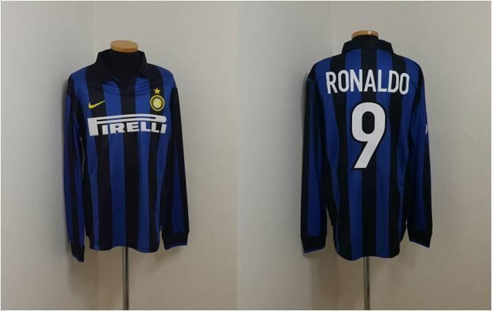 (XL) Inter Milán Camiseta Jersey Maglia Ronaldo Brasil Barcelona Real Madrid
