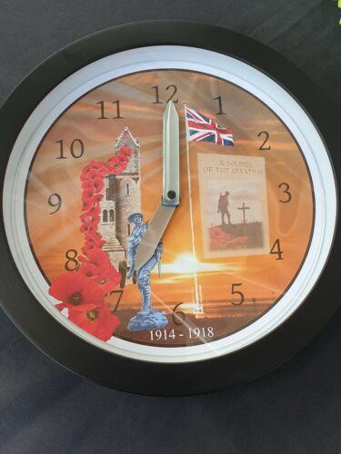 World  war one ulster Tower 10 inch wall clock quartz mechanism